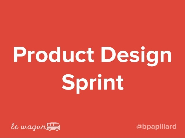 Product Design Sprint @bpapillard