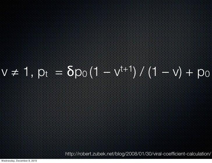 v ≠ 1, pt =δp0 (1 –                                vt+1)       / (1 – v) + p0                              http://rober...