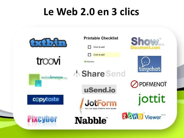 Le Web 2.0 en 3 clics