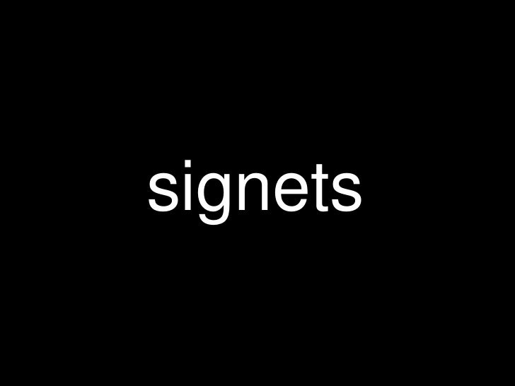 signets<br />