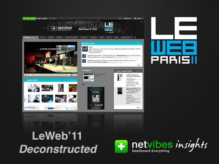 LeWeb'11Deconstructed