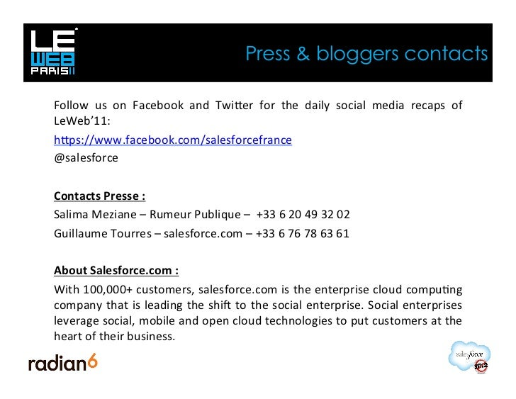 Press & bloggers contactsFollow  us  on  Facebook  and  Twiber  for  the  daily  social  media  reca...