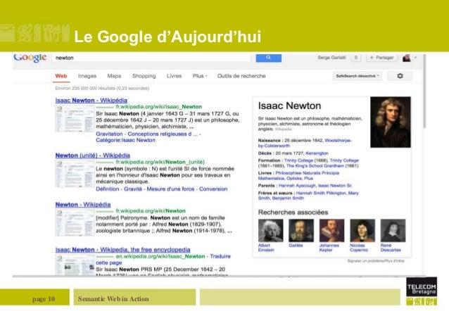 Le Google d'Aujourd'hui  page 10  Semantic Web in Action