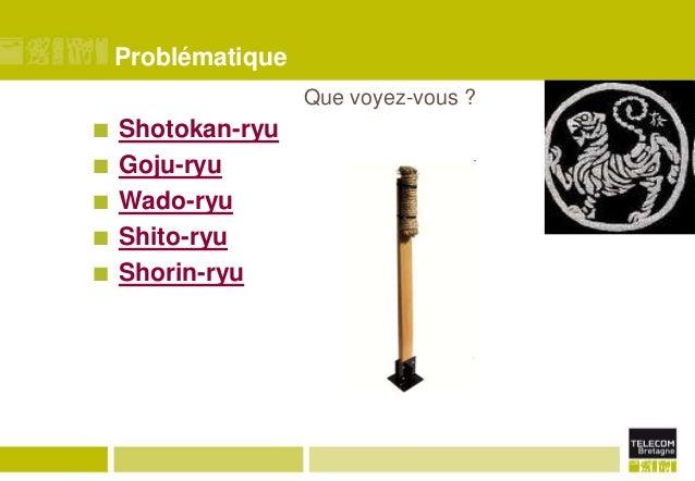 Problématique Que voyez-vous ?       Shotokan-ryu Goju-ryu Wado-ryu Shito-ryu Shorin-ryu