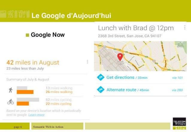 Le Google d'Aujourd'hui  Google  page 6  Now  Semantic Web in Action