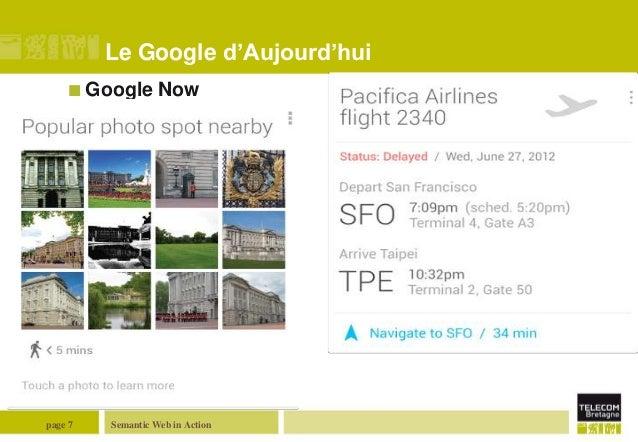 Le Google d'Aujourd'hui  Google  page 7  Now  Semantic Web in Action