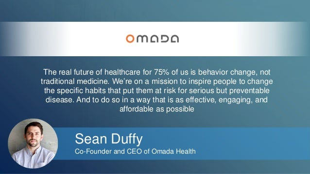 The real future of healthcare for 75% of us is behavior change, not  traditional medicine. We're on a mission to inspire p...