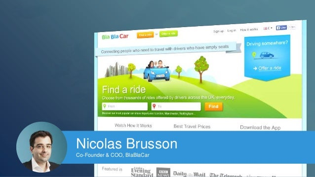 Nicolas Brusson  Co-Founder & COO, BlaBlaCar