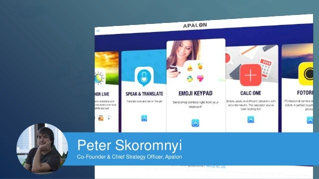 Peter Skoromnyi  Co-Founder & Chief Strategy Officer, Apalon