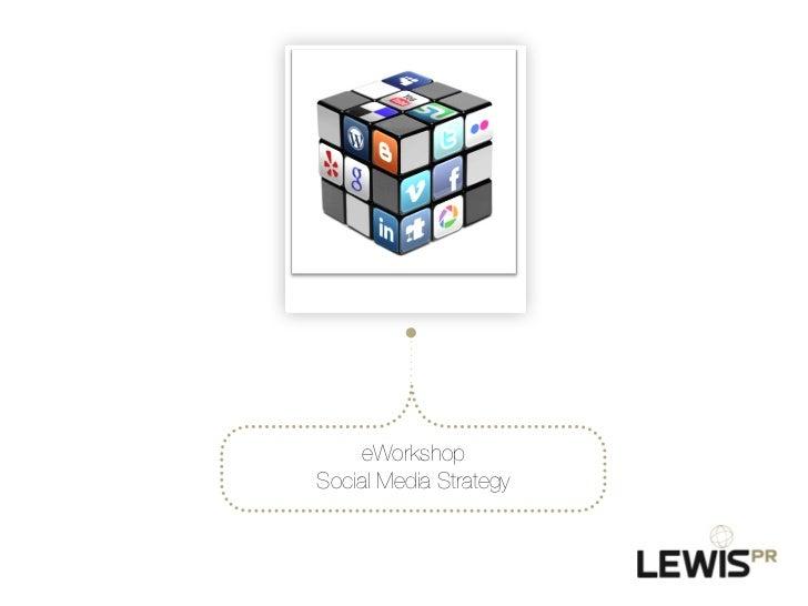 eWorkshop!Social Media Strategy