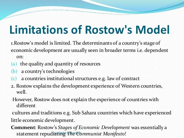 criticism of rostow model