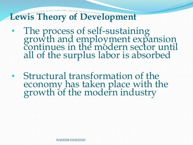 lewis theory of unlimited supply of labour pdf
