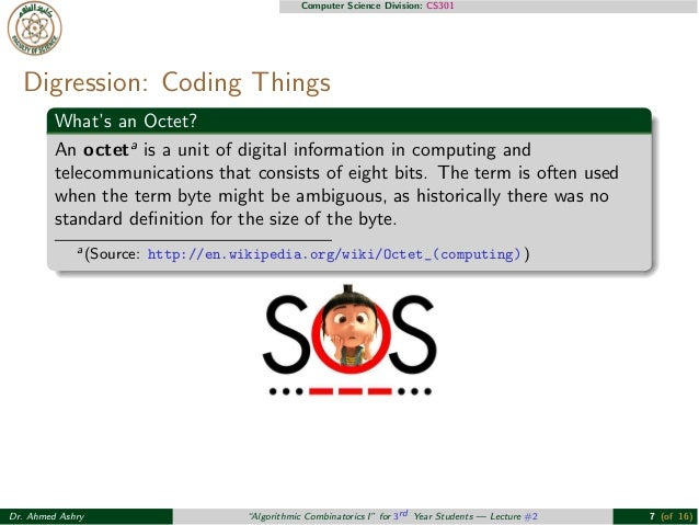 "Lecture #2: Algorithmic Combinatorics I ""#FOSCS301"""