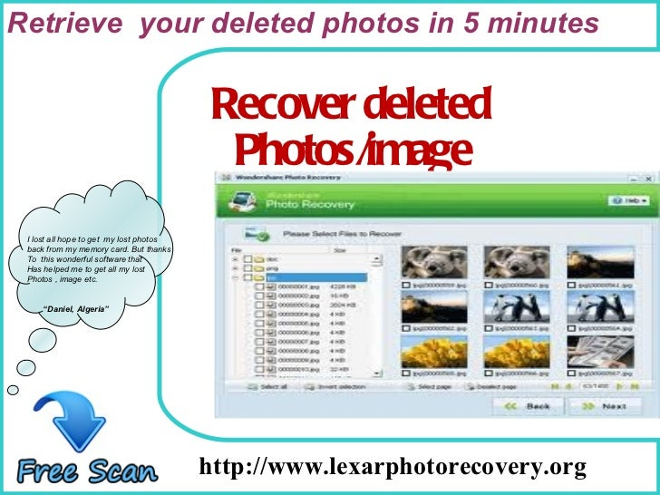 How To Remove http://www.lexarphotorecovery.org I lost all hope to get  my lost photos back from my memory card. But thank...