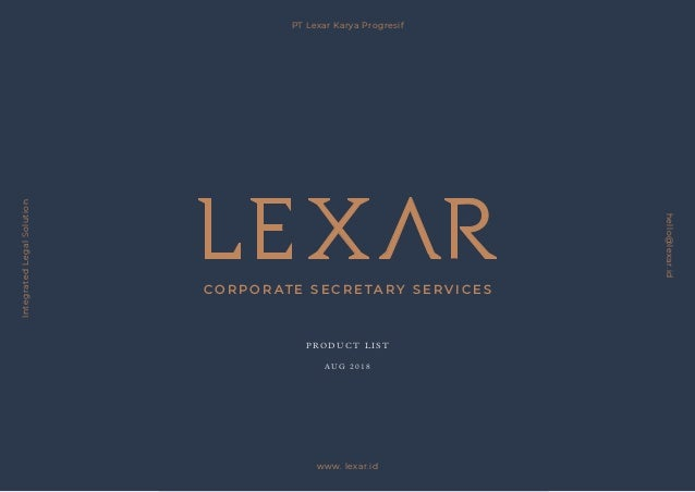 PT Lexar Karya Progresif hello@lexar.id|www.lexar.id All price are subject to change under the provisions of PT Lexar Kary...