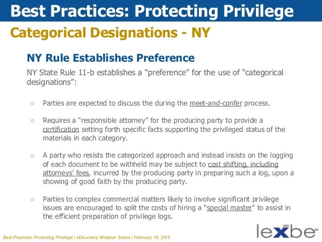 Lexbe eDiscovery Webinar- Best Practices: Protecting Privilege