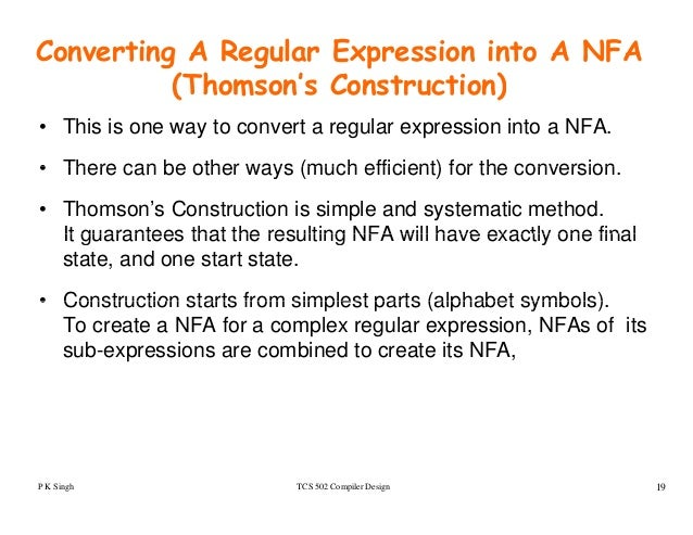 write a program to convert regular expression to nfa