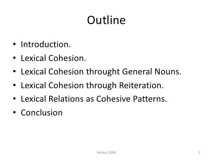 Lexical cohesion Slide 2