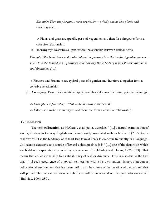 Lexical cohesion 6 m4hsunfo