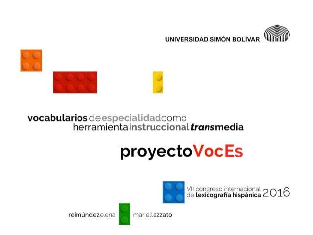 Vocabularios de especialidad como herramienta instruccional transmedia
