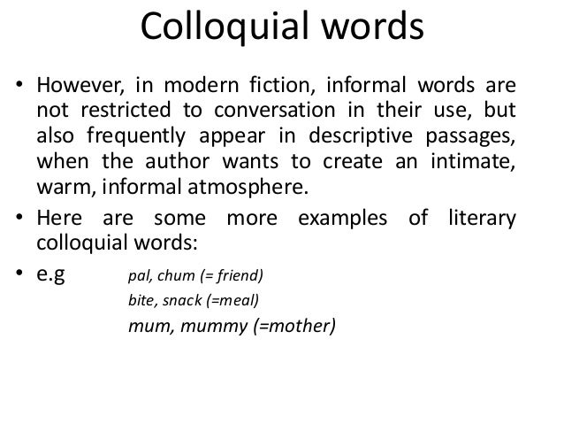 Slang versus jargon.