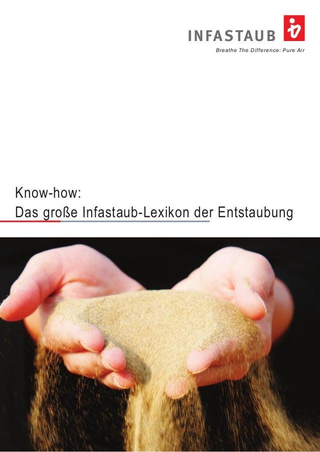 Breathe The Difference: Pure Air INFASTAUB Know-how: Das große Infastaub-Lexikon der Entstaubung