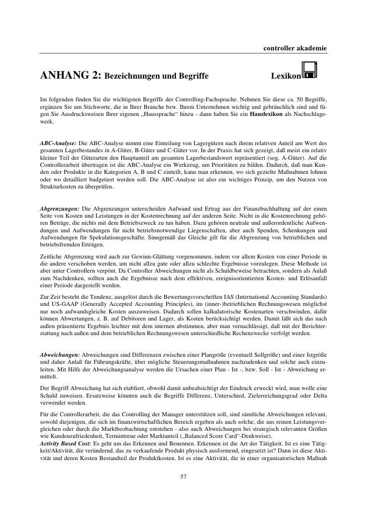 controller akademieANHANG 2: Bezeichnungen und Begriffe                                                         LexikonIm ...