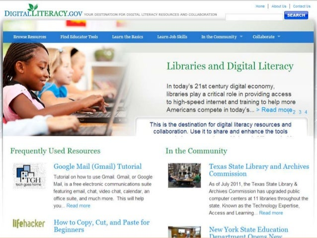 References  • ALA supports FCC proposal to fund digital literacy training through public libraries. (2012, April 3).Distri...