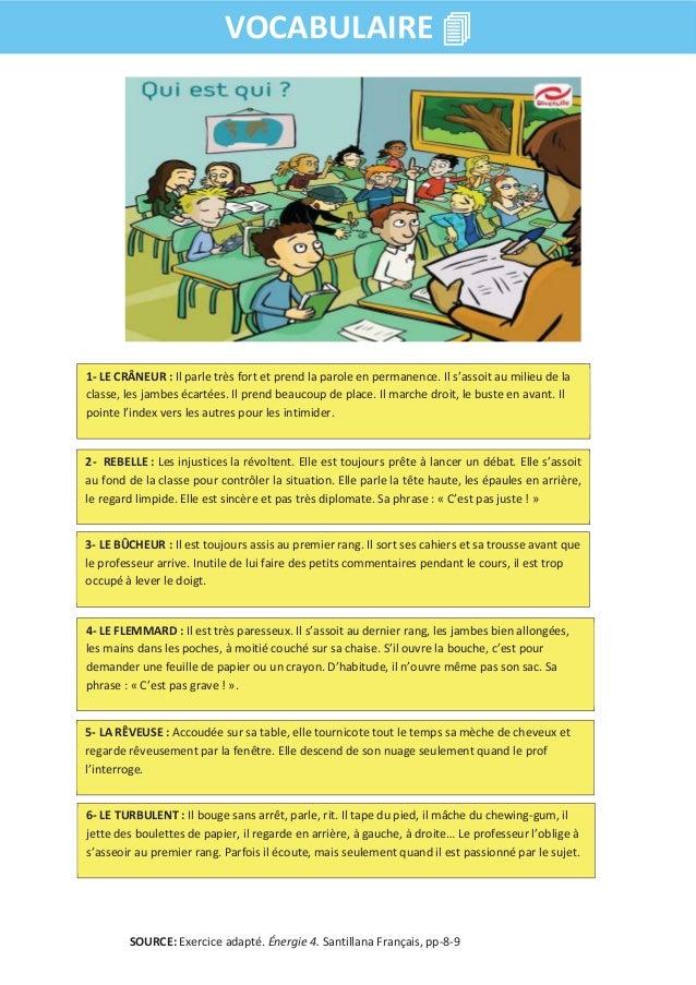 Lexique l'ecole et les etudes (A2) Slide 2