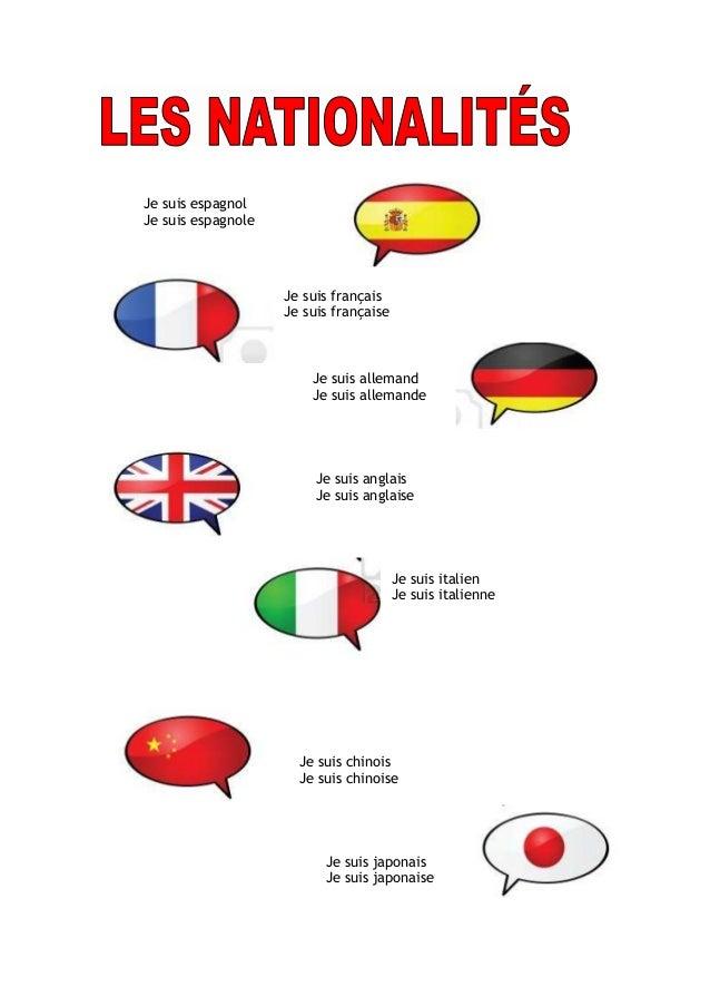 Lexique Les Nationalites