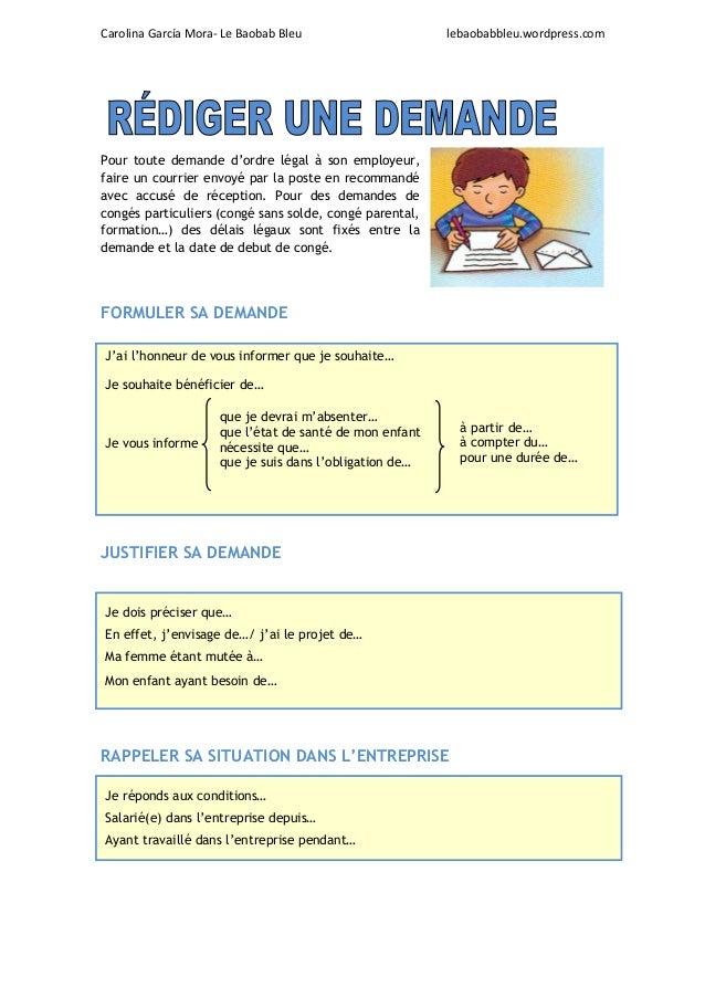 Carolina García Mora- Le Baobab Bleu lebaobabbleu.wordpress.com Pour toute demande d'ordre légal à son employeur, faire un...