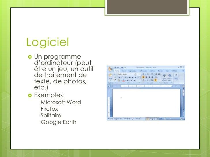 Lexique d'informatique Slide 2