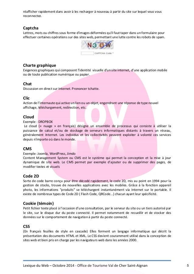 Lexique du web office de tourisme val de cher saint aignan - Office national de publication et de communication ...