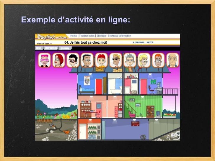 Exemple d'activité en ligne: