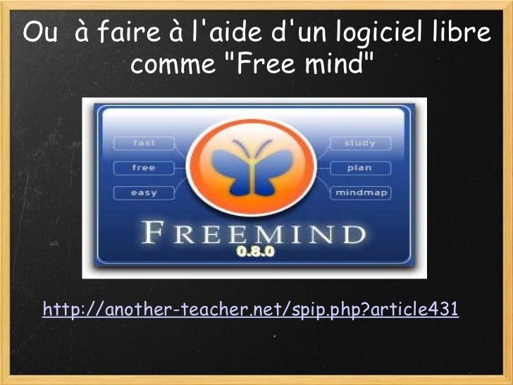 """Ou à faire à l'aide d'un logiciel libre comme """"Free mind""""  http://another-teacher.net/spip.php?article431"""