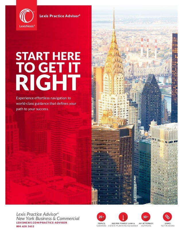 Lexis Practice Advisor New York Business & Commercial Brochure