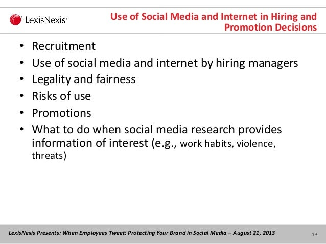 Discipline of Employees for Conduct Outside the Workplace: Social Media