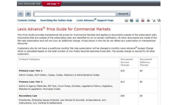 finding cost information on law school lexis and westlaw rh slideshare net WestlawNext Sign On Thomson Reuters Westlaw
