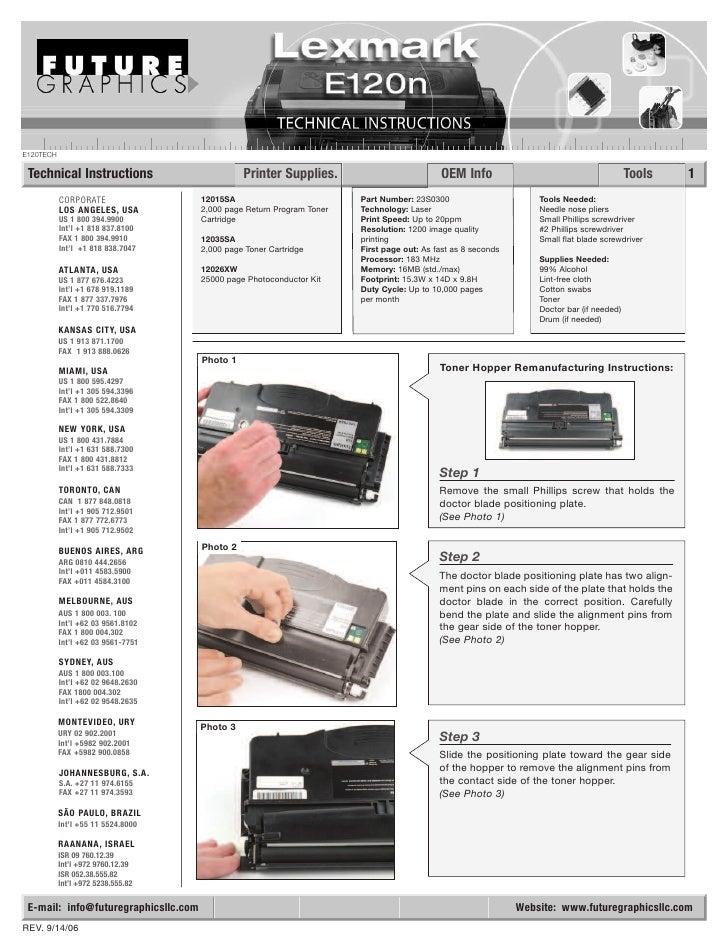 Lexmark e120 e120n service manual download.