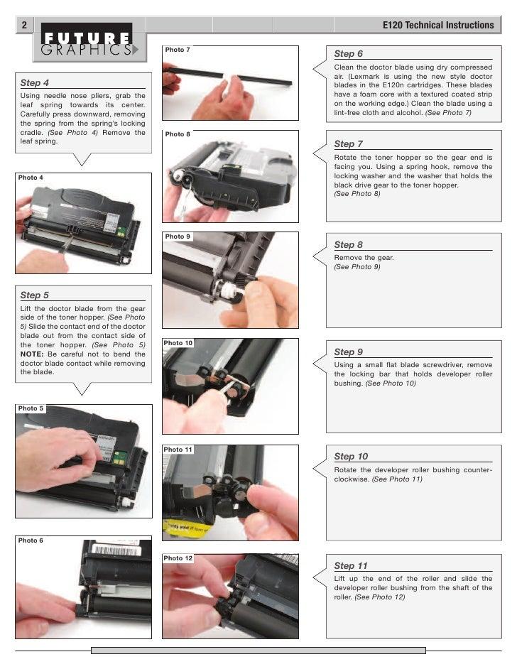 manual de recarga lexmark e120 rh slideshare net lexmark e120 service manual & repair guide lexmark e120 manual online