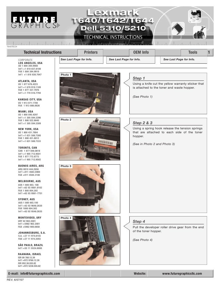 T640TECH                  Technical Instructions                 Printers                    OEM Info                     ...