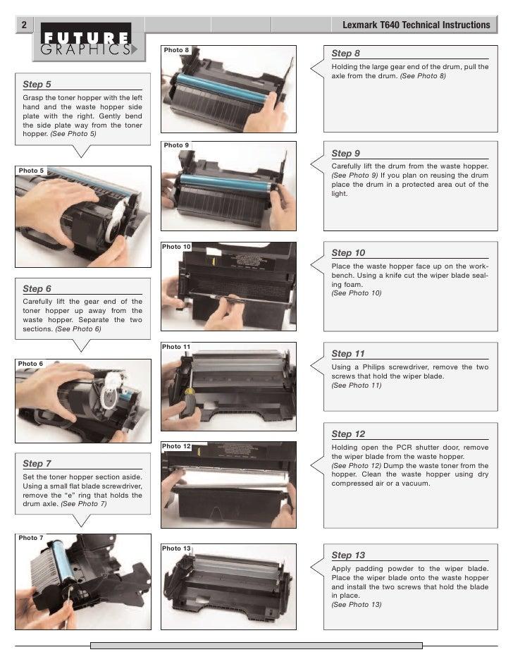manual de recarga lexmark t640 t642 t644 rh slideshare net