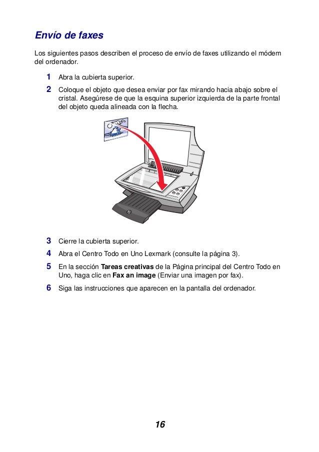 16 Envío de faxes Los siguientes pasos describen el proceso de envío de faxes utilizando el módem del ordenador. 1 Abra la...