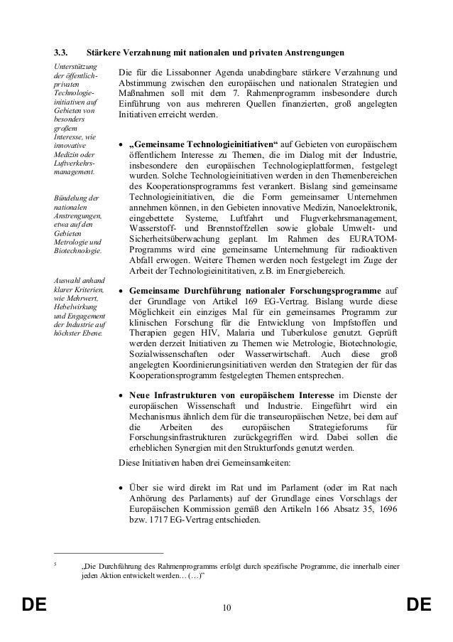 3.3.  Stärkere Verzahnung mit nationalen und privaten Anstrengungen  Unterstützung der öffentlichprivaten Technologieiniti...