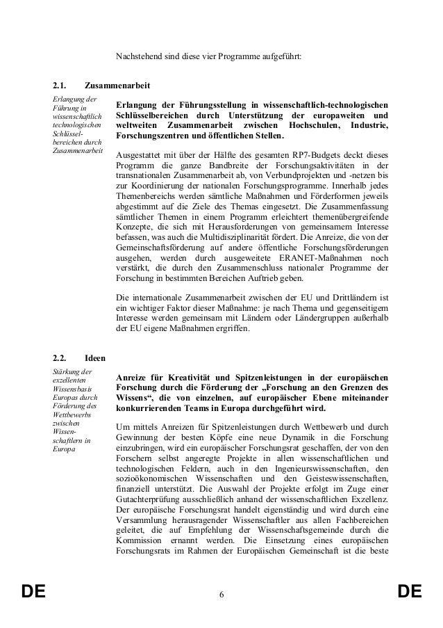 Nachstehend sind diese vier Programme aufgeführt: 2.1.  Zusammenarbeit  Erlangung der Führung in wissenschaftlich technolo...