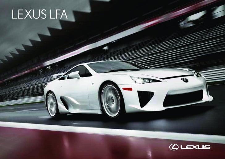 Exceptionnel LEXUS LFA ...