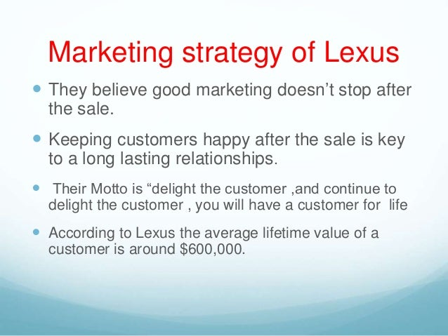 Lexus marketing plan