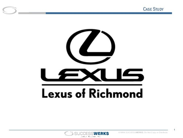 Lexus Of Richmond Social Media Roi Video Case Study