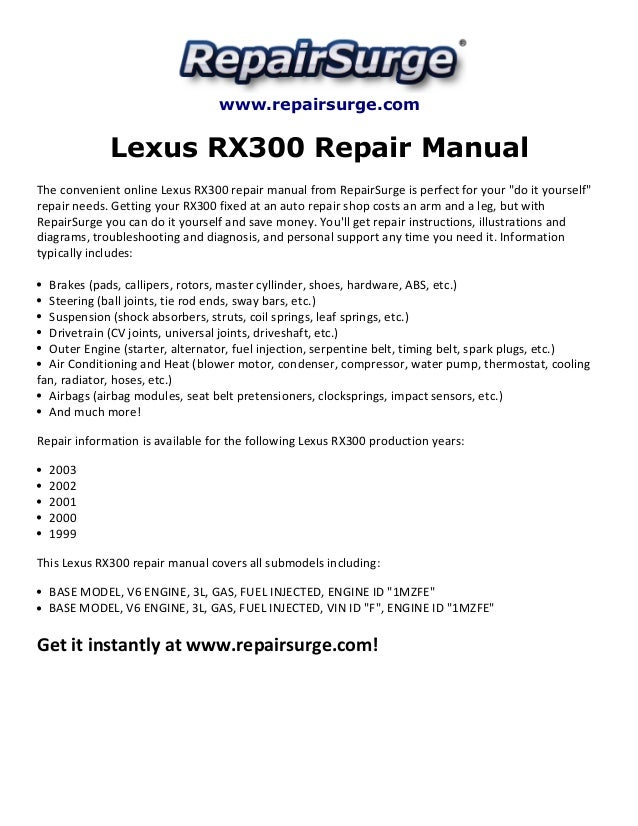 toyota highlander 2002 service and repair manual