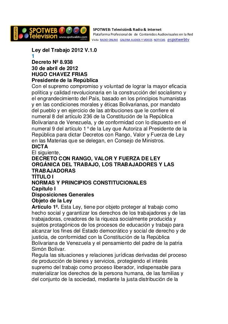 SPOTWEB: Televisión& Radio & Internet                           Plataforma Profesional de de Contenidos Audiovisuales en l...